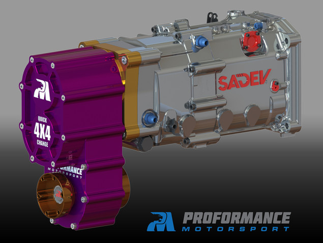 Proformance Predator 4X4 SXS Transfer Case + Sadev 6 Speed Transmission