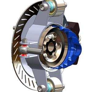 Billet SXS Hub (Upright - Spindle) with Internal CV Joints