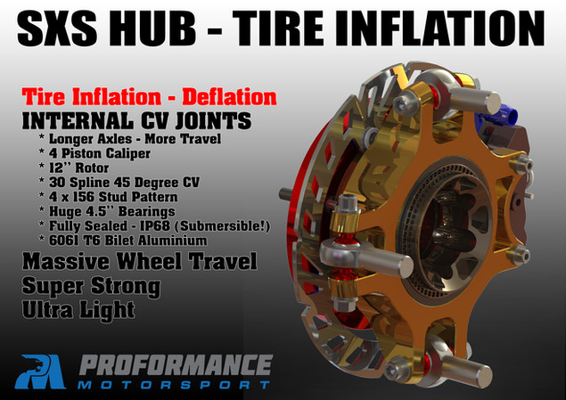 Proformance Predator Billet SXS Hub with Tire Deflation and Tire Inflation