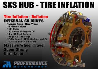 Proformance Predator Billet SXS Hub with Tire Deflation and Tire Inflation