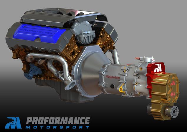 Proformance Coyote Motor - Holinger - Transfer Case.