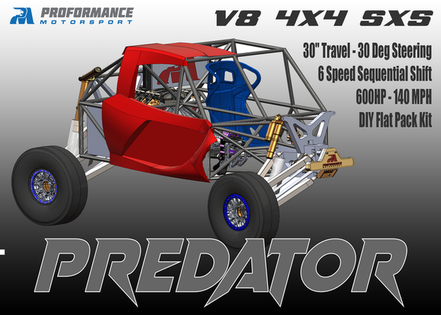 Predator V8 4X4 Chassis Flat Pack Kit IFS - IRS