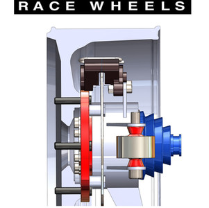 "Proformance Billet SXS hub with Internal CV Joints - 15"" Metod Race Wheel"