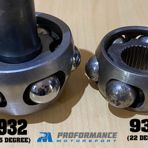 Extreme Angle 930 CV Joint Compared to 930 22 Deg CV JOINT