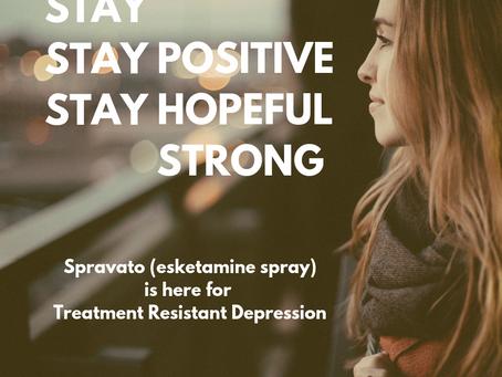 The Newest Treatment for Depression is Here - Spravato (esketamine nasal spray)