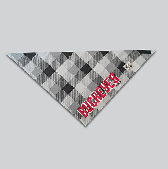 Buckeyes Checkers Bandana