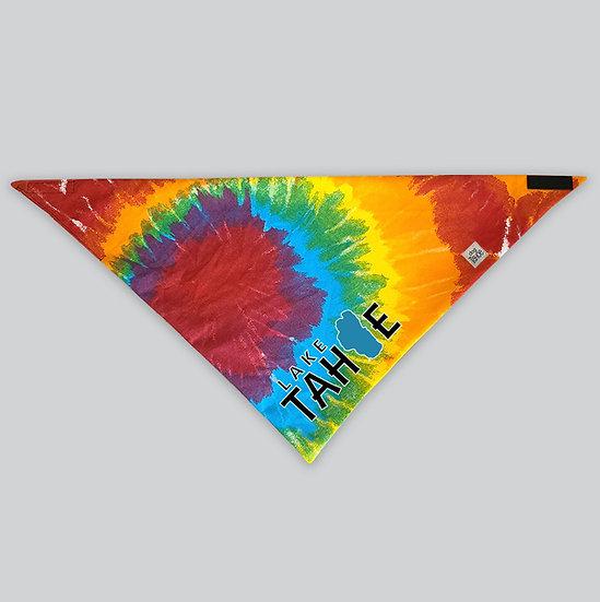 Lake Tahoe Tie Dye Dog Bandana