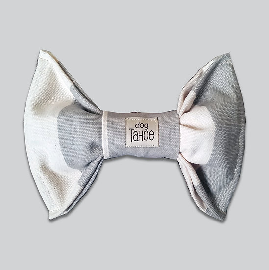 Canvas Stripes Bow Tie