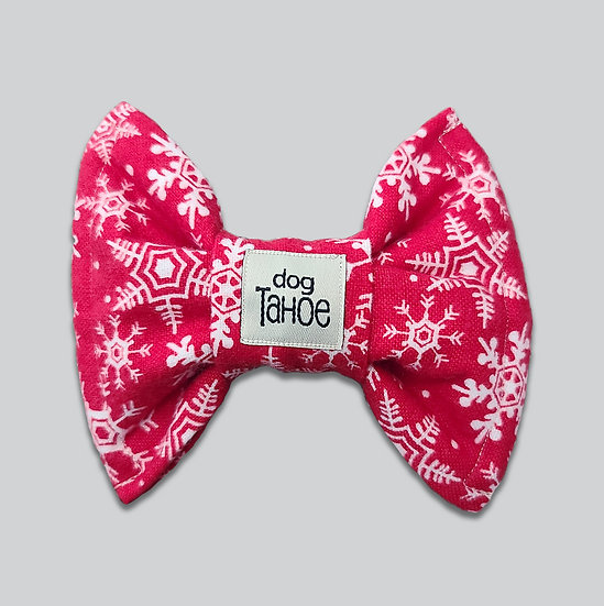 Red Snowflake Flannel Bow Tie