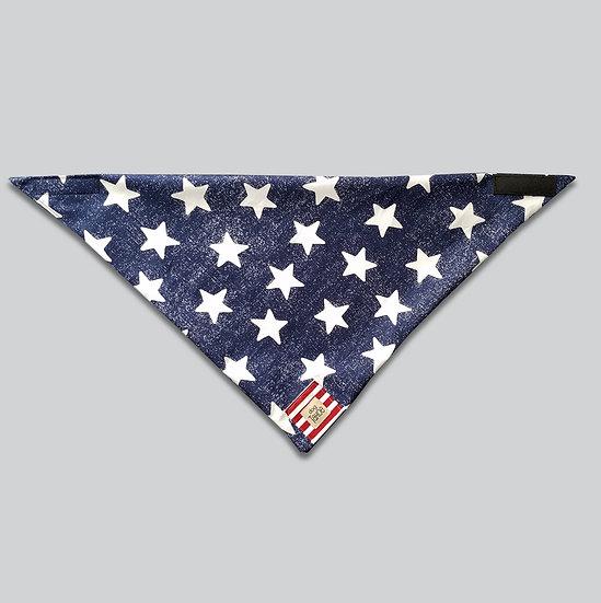 Patriotic Rustic Stars with Stripes Bandana
