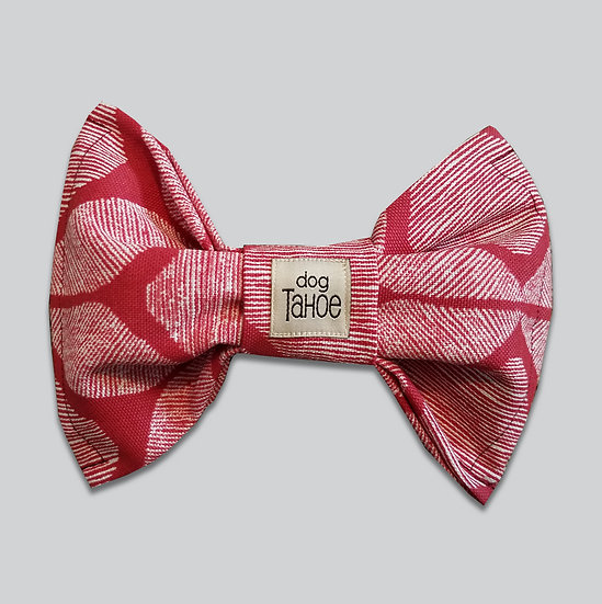 Red Abstract Bow Tie