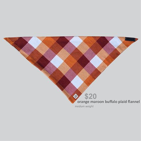 New Releases Bandana Orange Maroon Buffalo Plaid Flannel.jpg