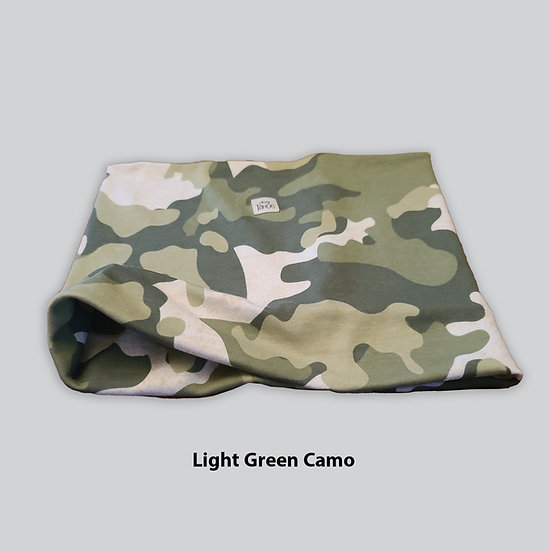 Light Green Camo Reversible Neck Gaiter