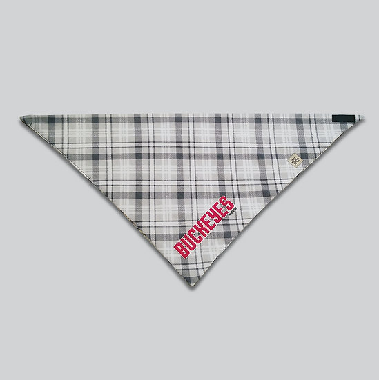Buckeyes Plaid Bandana