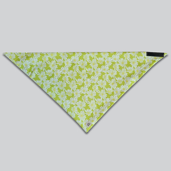 Sketch Daisy Lime Bandana
