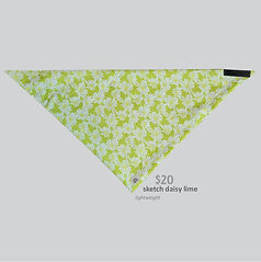 New Releases Bandana Sketch Daisy Lime.j