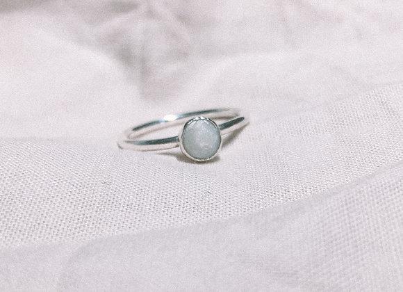 Mini Faux Pearl Ring - Size I