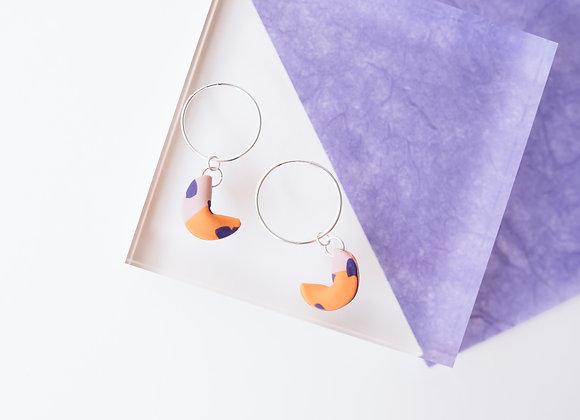 Fortune Cookies Hoop Earrings