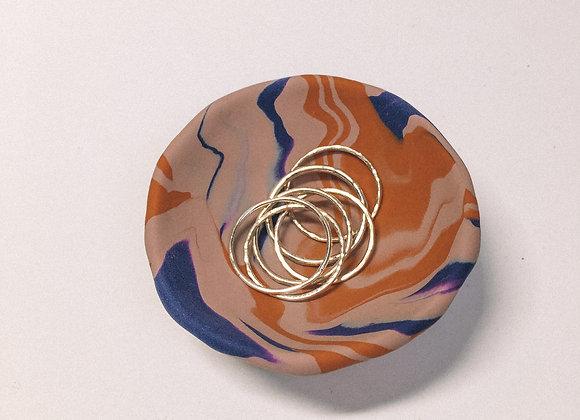 Antique Rose Swirl Trinket Dish (M)