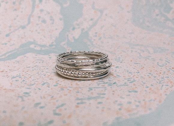 'Mazu' Stacking Ring Set