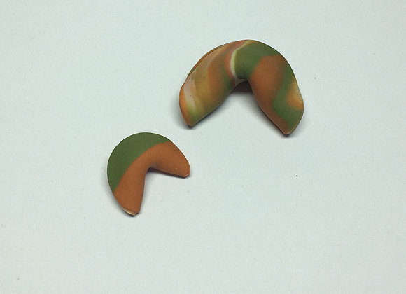 Fortune Cookie Trinkets - Burnt Orange and Olive Green
