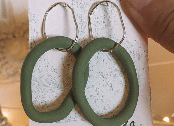 Wild and Colourful Tide Hoops (Olive)