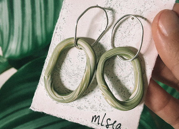 Wild and Colourful Tide Hoops (Olive blend)