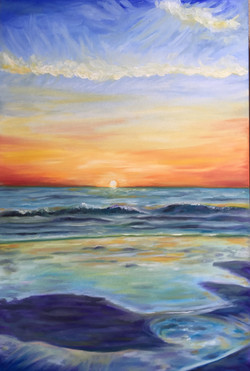 "Oil, ""Tybee Sunrise"""