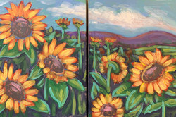 Couples Sunflower Painting
