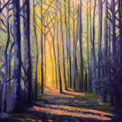 """Oil, """"Forest mornings"""""""