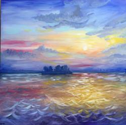 Oil, 'Folly's Sunrise'