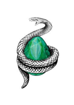Serpent et pierre philosophale