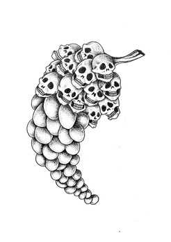 Grappe de raisin à la Dali