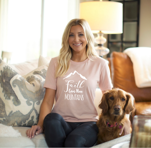 Christian T-Shirt | Faith Can Move Mountains