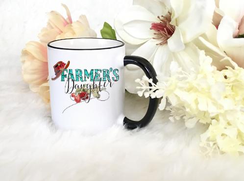 "CHRISTIAN COFFEE MUGS ""FARMERS DAUGHTER"""