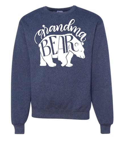 Grandma & Grandpa Bear  Jerzees Crew Sweatshirt