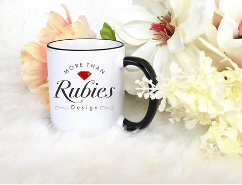 "CHRISTIAN COFFEE MUGS ""MORE THAN RUBIES DESIGN"""