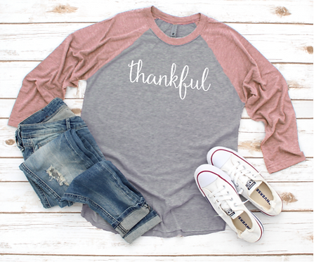 Thankful Raglan Tee