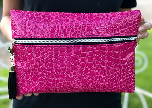 CUTE TRAVEL MAKEUP BAG HOT PINK