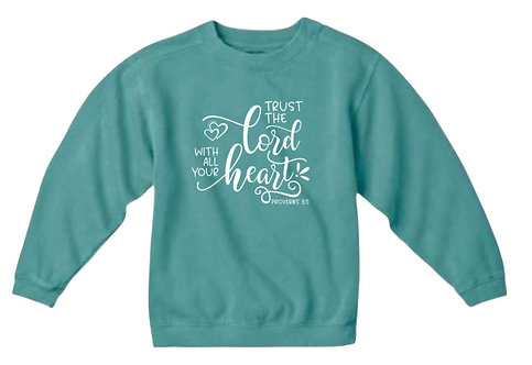 "KID'S CHRISTIAN SWEATSHIRT ""TRUST IN THE LORD"""