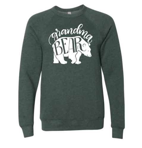 Grandma & Grandpa Bear  Premium Bella Canvas Sweatshirt