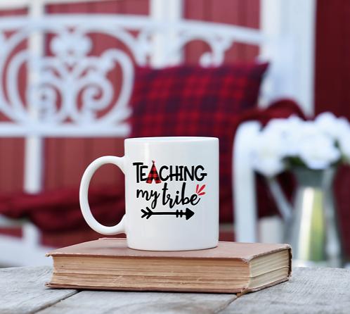 "CHRISTIAN COFFEE MUGS ""TEACHING MY TRIBE"""