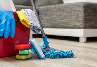Limpiando materiales