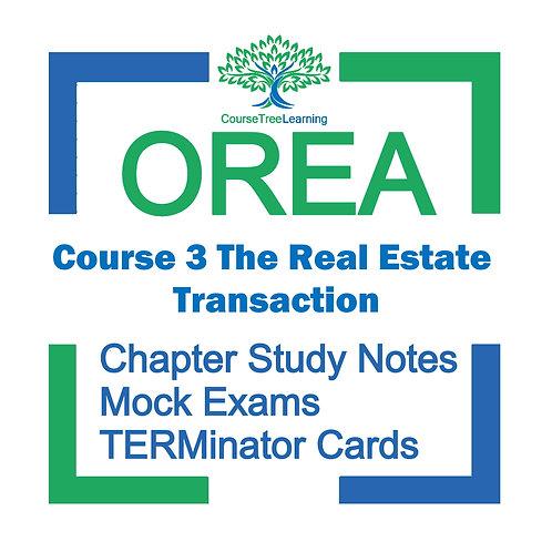 OREA Real Estate Course 3 Textbooks & Mock Exams