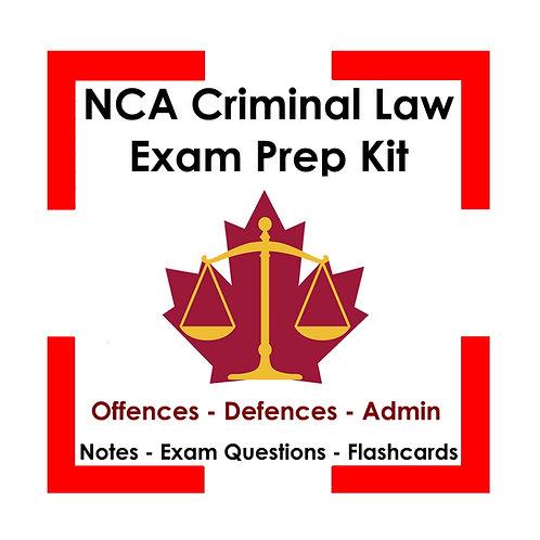 NCA Criminal Law Exam Prep Kit