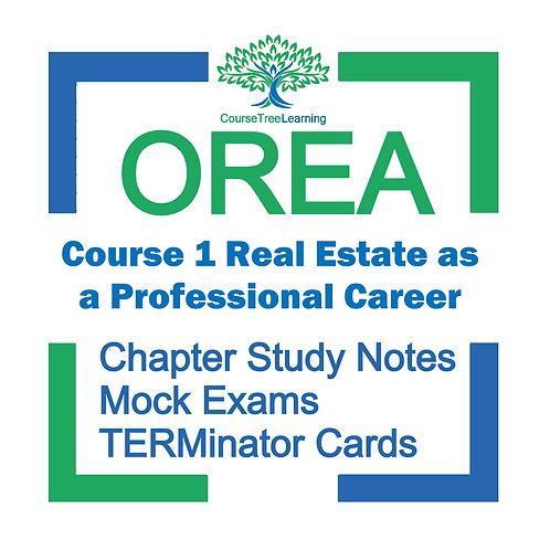 OREA Real Estate Course 1 Textbooks & Mock Exams
