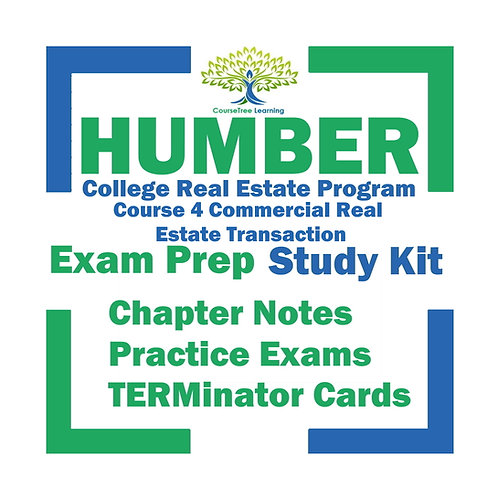 Humber Real Estate Course 4 Commercial Textbooks Kit