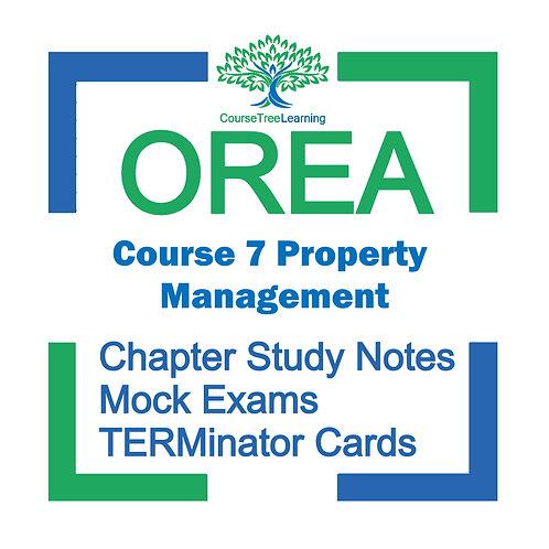 OREA Real Estate Course 7 Textbooks & Mock Exams
