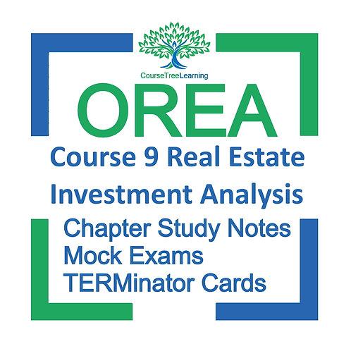 OREA Real Estate Course 9 Textbooks & Mock Exams