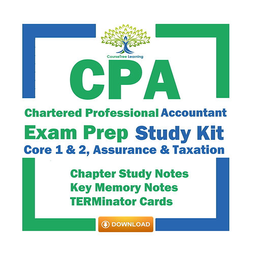 CPA CFE 2021 Core 1 & 2, Assurance & Tax + Cases Exam Prep Kit